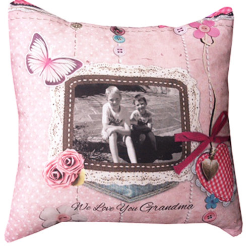 Vintage style Pink Cushion