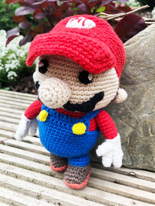 It's Mario - Crochet Gift with Gift Wrapping