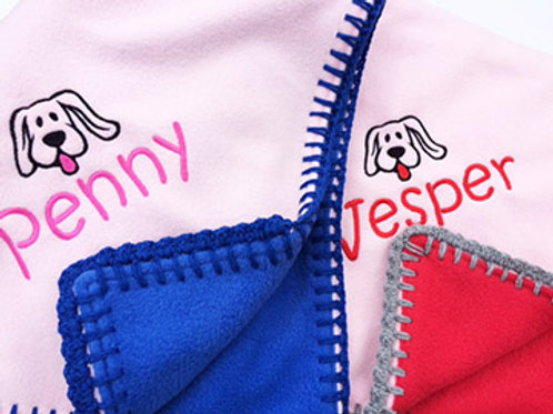 Puppy Fleece Blankets - PERSONALISED
