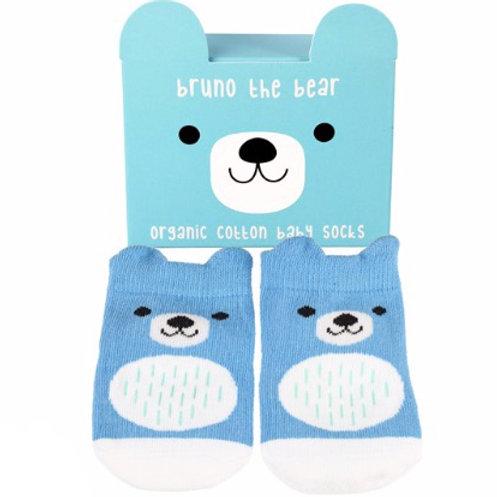 Bruno the Bear Socks - Organic  (One Pair)