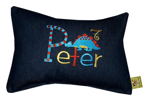 Personalised Embroidered Denim Cushion