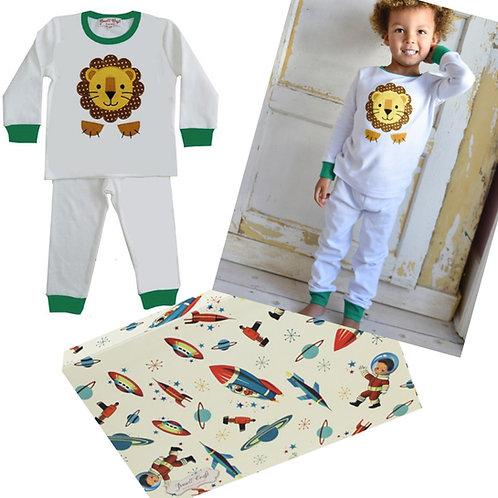 Child's Pyjamas Gift Box - Lion themed
