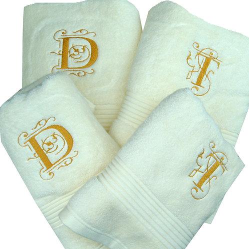 Personalised 4 Piece Wedding Towel Gift Set