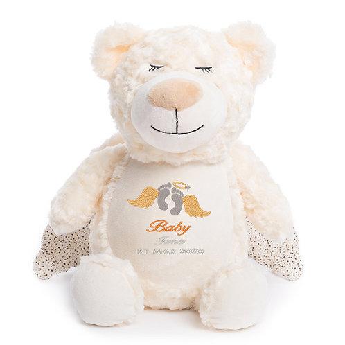 Angel Bear Cubbie Teddy - Personalised