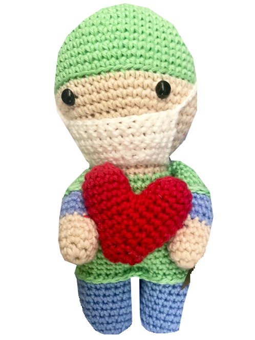 Handmade Crochet Hospital Person - Say thank you!