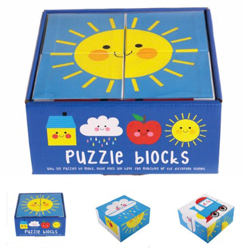 Happy Cloud Puzzle Blocks - Six Combinations