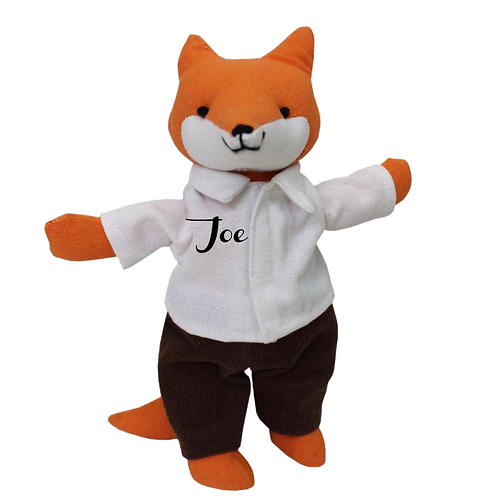 Mr. Fox - Small Personalised Toy