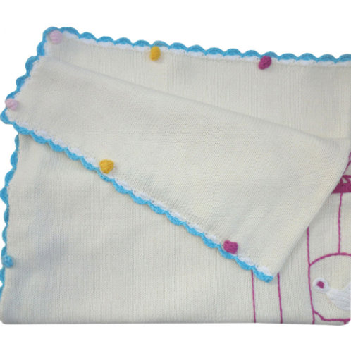 Birdcage themed Cotton Blanket - Cot Size