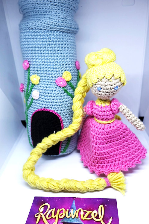 Handmade Crochet Rapunzel and Tower