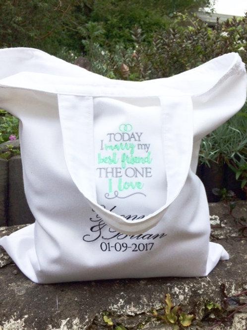 *Best Friend* Handmade Wedding Tote Bag