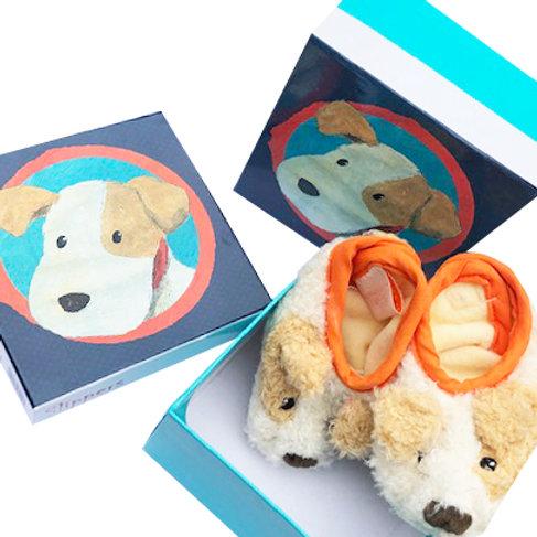 Little Dog Elliot Slippers by Egmont - Gift Boxed