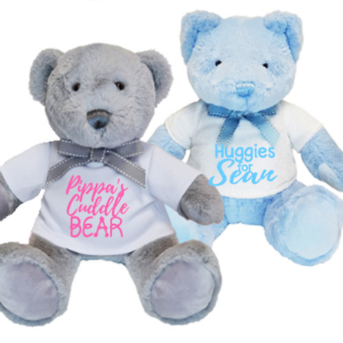 Soft Cuddly Teddy with T-Shirt - PERSONALISED