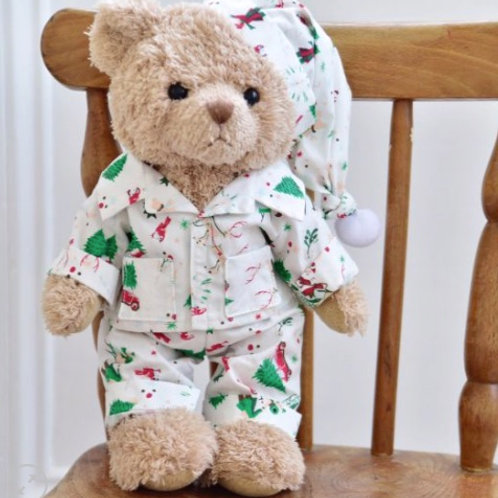 Christmas Themed Teddy Bear - PERSONALISED