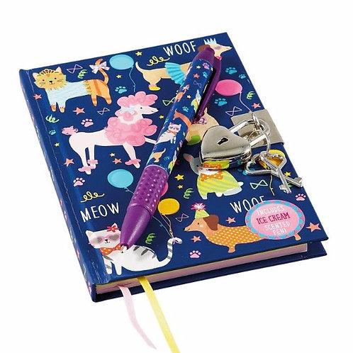 Pet themed Lockable Diary
