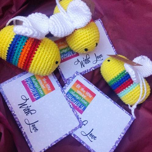 Crochet  PRIDE Bees - HANDMADE