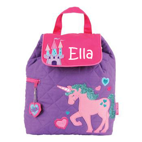 Quilted Cotton Designer Backpack - Unicorn