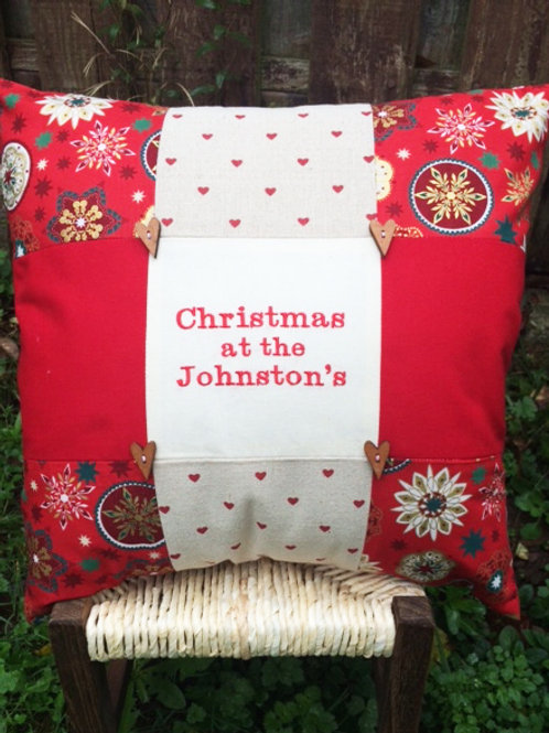 Personalised Christmas Cushion 16x16inches