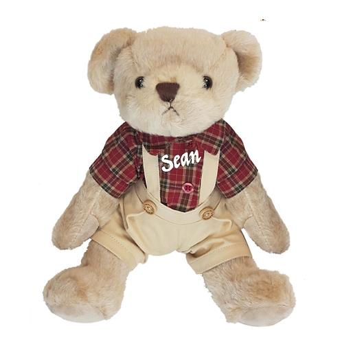 Plaid Teddy Bear - PERSONALISED