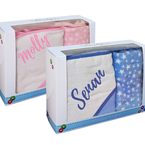 Gift Boxed Towel and Blanket - PERSONALISED