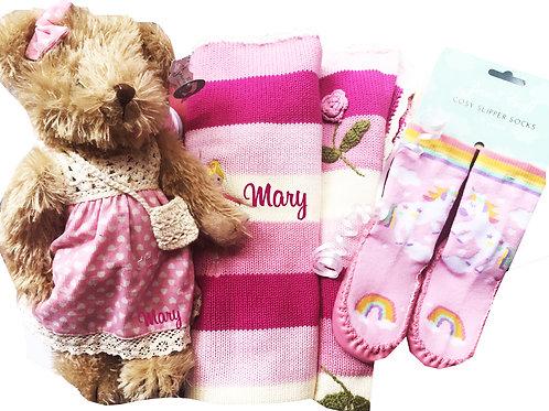 Pink Luxury Teddy Packs - Personalised