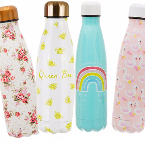 Stainless Steel Water Bottles - PERSONALISED RIBBON