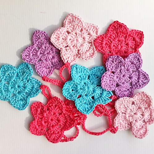 Crochet FLORAL Bunting - HANDMADE