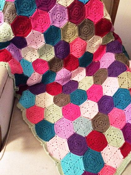 Contemporary Crochet Cotton Throw - HANDMADE