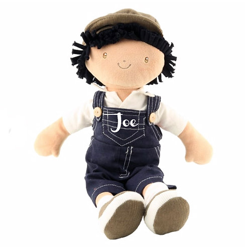 Boy Ragdoll in Dungarees - PERSONALISED