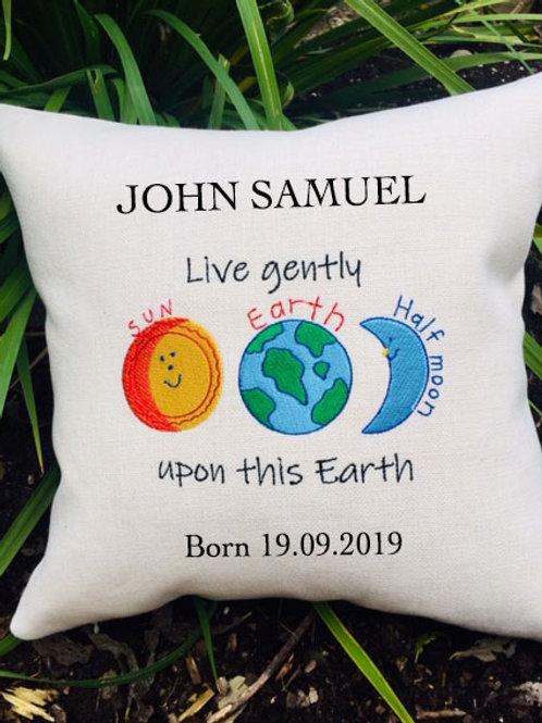 Earth Birth Cushion - PERSONALISED