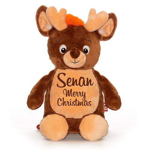 Reindeer Cubbie Teddy - Personalised