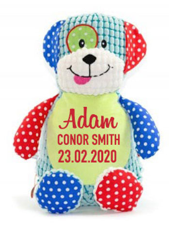 Patchwork Puppy Teddy - Personalised