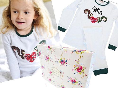 Child's Pyjamas Gift Box - Woodland themed