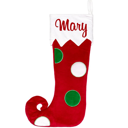 Large Spotty  Christmas Stocking from Cubbies - 16inches