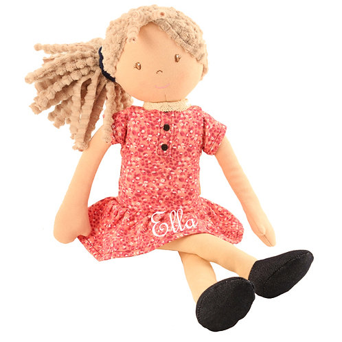 Pink Daisy Floral Doll - PERSONALISED