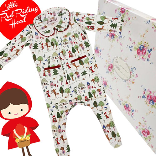 Red Riding Hood Jumpsuit - Gift Boxed
