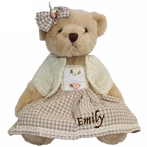 Checked Teddy Bear - PERSONALISED