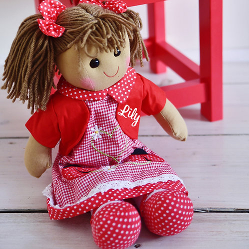 Ladybird Red Gingham Dress  – PERSONALISED