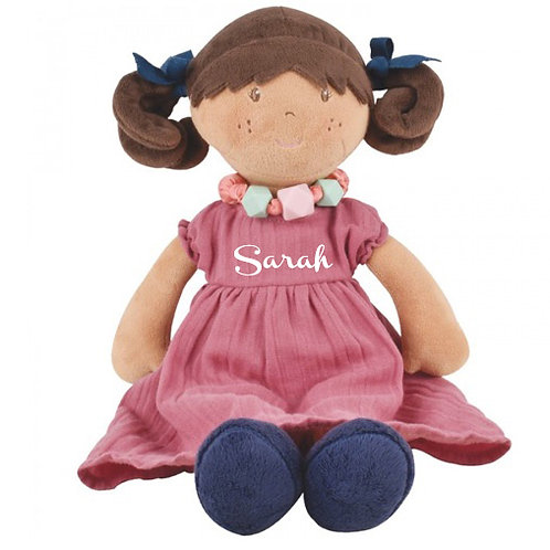 Friendship Ragdoll in Pink Dress and Necklace  - PERSONALISED