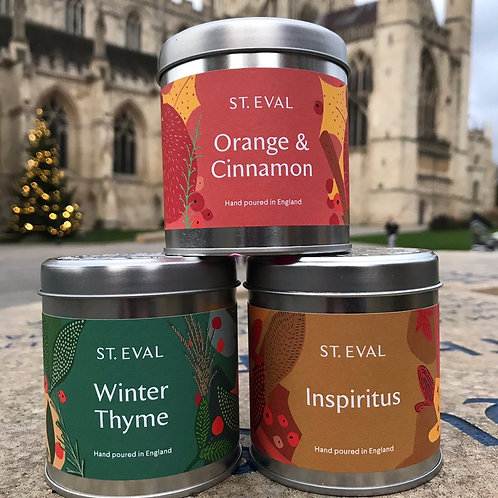 Christmas Candles from St. Eval Candle Company