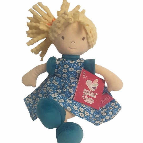 Sweet & Fun Blue Floral Doll - PERSONALISED
