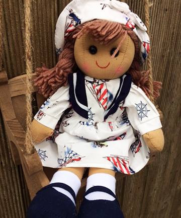 Personalised Nautical Doll