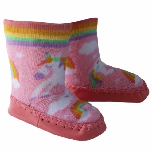 Pink Unicorn Moccasin Slippers