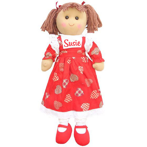 Extra Large Red Heart Ragdoll (60cm) – PERSONALISED