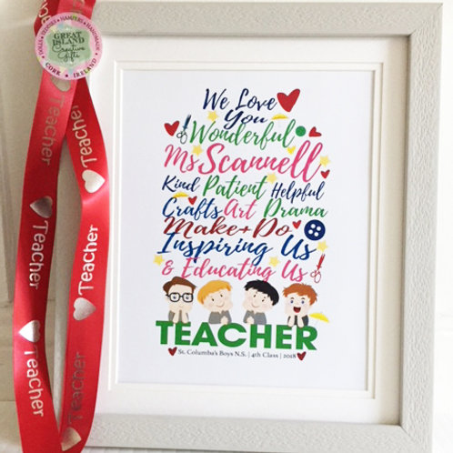 Teacher Frame (Large) - Say Thank You