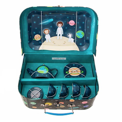 Space Explorers Picnic Box Tea Set - Unisex