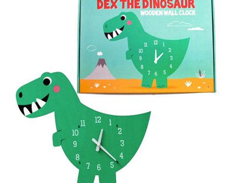 Dex the Dinosaur - Wooden Wall Clock