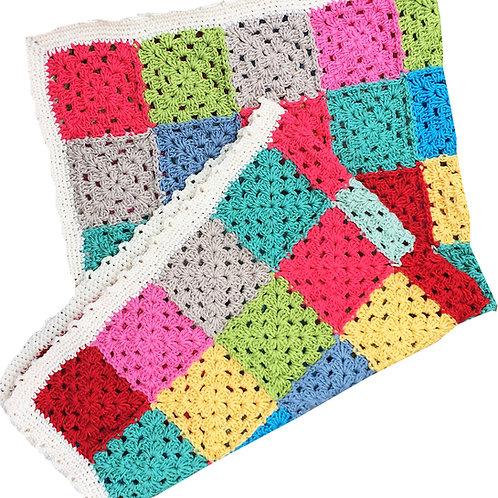 Funky Crochet Baby Blanket - HANDMADE
