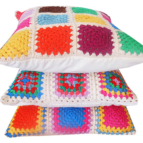 Traditional Granny Square Cushion