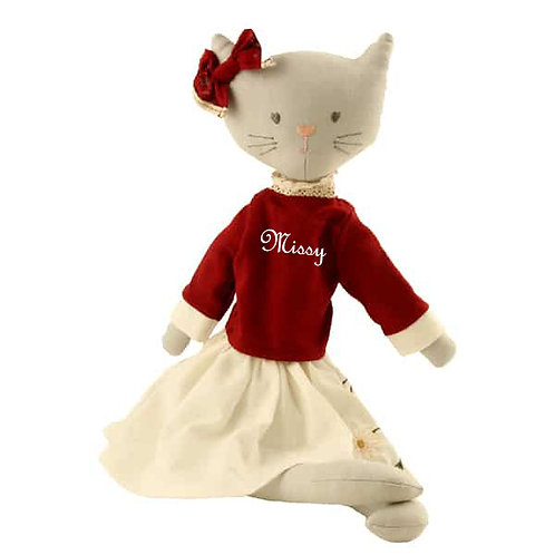 Soft Toy Chic Cat - PERSONALISED