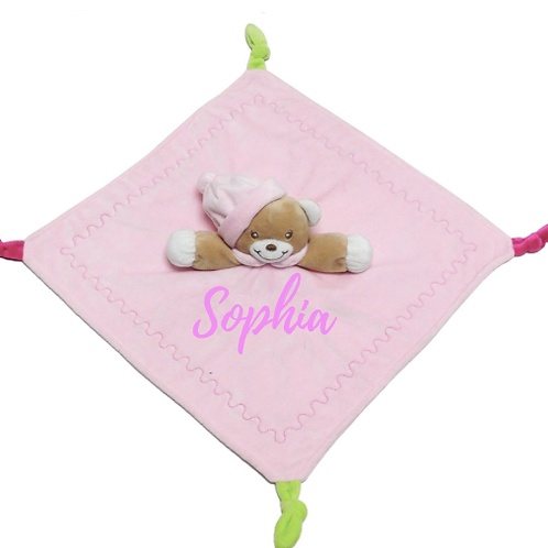 Plush Cosy Baby Bear Comforter - Pink